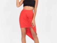 Асимметричная юбка — изящный и интригующий элемент дизайна (64 фото + видео)