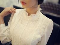Блузка с воротником стойкой: 59 фото лучших покроев очаровательного стиля