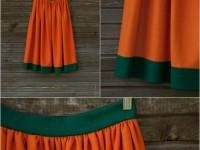 Оранжевая юбка — с чем носить: ультрамодный цвет, ультрамодный покрой + 90 фото