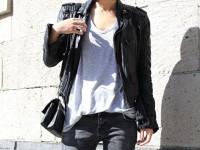 С чем носить кожаную куртку не выходя из единого стиля и образа + фото