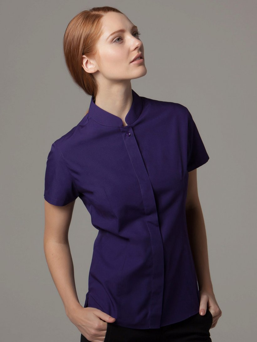 Blouse with a collar stand 8