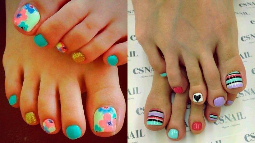 Дизайн ногтей ноги 2017-2018 новинки лето