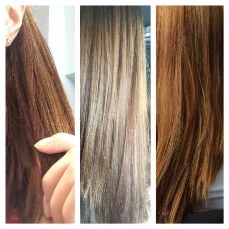 Смывка натурального цвета волос