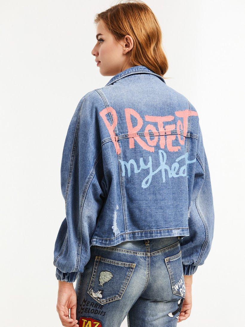 Надписи на джинсовых куртках